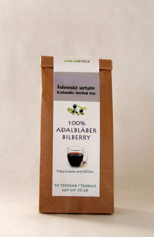 Urta - Bilberry Tea -100% Bilberry - ISLANDICA.com