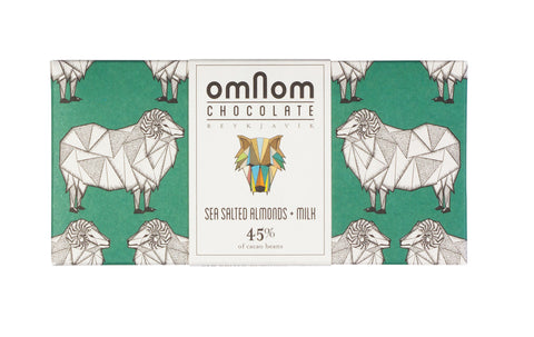 Omnom Chocolate - Salted Almonds + Milk 45% - ISLANDICA.com