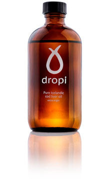 dropi - Pure Extra Virgin Cod Liver Oil (220 ml) - ISLANDICA.com