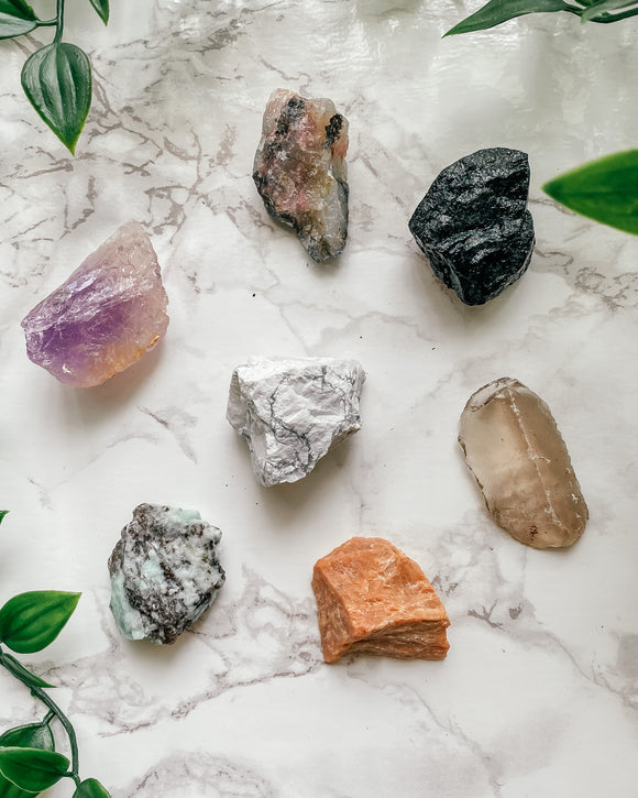 7 Crystals for Anxiety and Depression Bundle