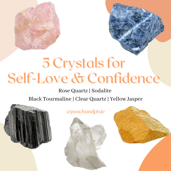 5 Crystals for Self-Love & Confidence Bundle