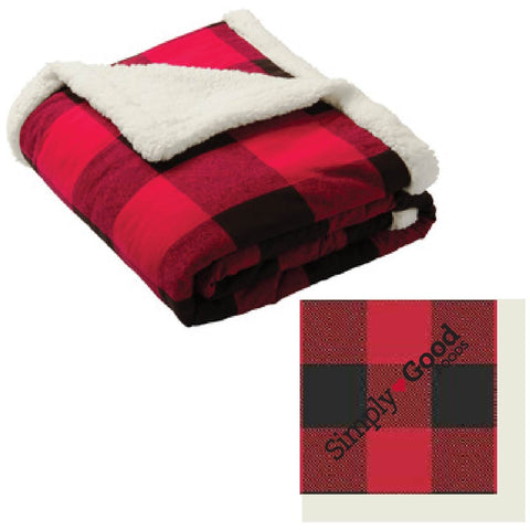 Flannel Sherpa Throw Blanket