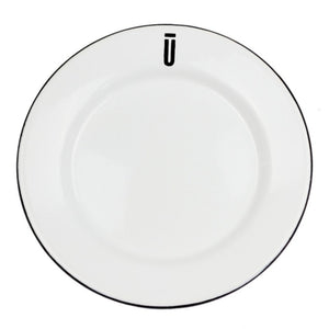 Enamel Plate with Union Ten Logo
