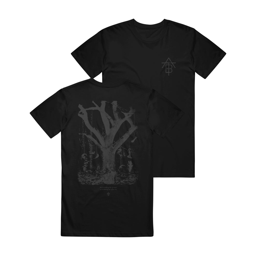 Bones Embroidered Black T-Shirt