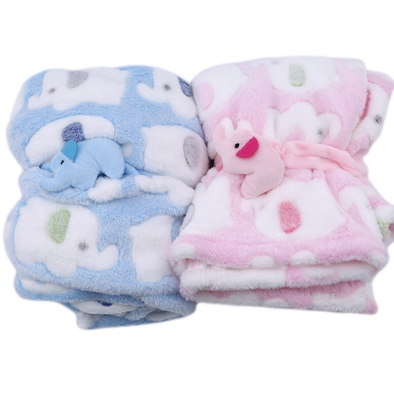 Cute Elephant Supersoft Baby Newborn Blanket Quilt Swaddling Bedding Warm Stroller Cover
