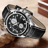 Quartz Sport Watch Men Brand Army Military Watches Multifunction Chronograph Wristwatches