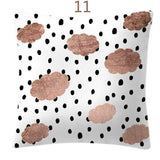 Pillow Case Rose Gold Geometric Pineapple Polka Dot Home Car Cushion Cover