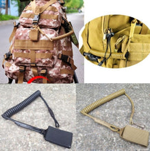 Load image into Gallery viewer, Shooting Hunt Military Molle Backpack Elastic Belt Tool Strap Rope Lanyard Gun Pistol Bag Spring Airsoft Coil Sling Handgun