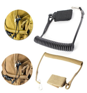 Shooting Hunt Military Molle Backpack Elastic Belt Tool Strap Rope Lanyard Gun Pistol Bag Spring Airsoft Coil Sling Handgun