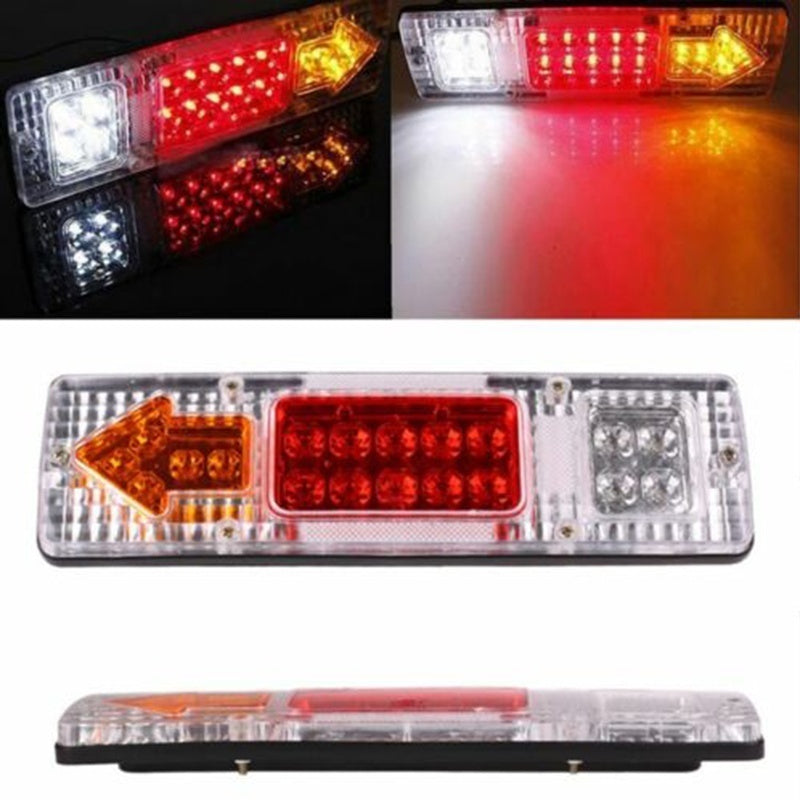 2pcs Tail Light Trailer Car Truck Rear Brake Stop Turn Indicator Lamp 12V/24V 19 LED