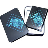 Waterproof Plastic Poker Black Playing Cards Collection Cards Deck Cool Bridge Card Games Texas