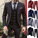 Men's Suit Business Leisure Wedding Dress 3-piece Suit