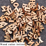 100Pcs Cute Letters Numbers Wooden Alphabet Embellishments Scrapbooking Craft DIY