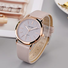 Load image into Gallery viewer, Fashion Womens Watches Ladies Simple Watches Leather Strap Watches Quartz Wrist Watch Clock For Women Reloj Feminino