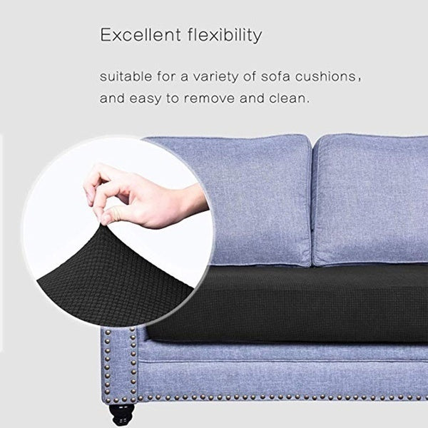 1-4seaters 13 Colors Waterproof Sofa Cushion Cover Waterproof Jacquard Polyester Spandex Couch Seat Cover Solid Color Loveseat Chair Cushion Slipcover