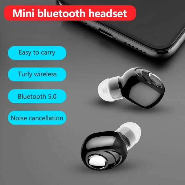 Ture Wireless Bluetooth 5.0  Earphones for Iphone  Mini Single Ear Earbuds with Mic Auriculares Bluetooth Wireless Headset Phone Headphones for Samsung