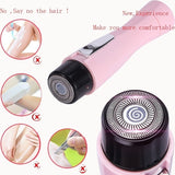 Mini Women Electric Facial Hair Remover Shaver Face Care Body Hair Removal Painless Portable Epilators Trimmer Beauty Tools