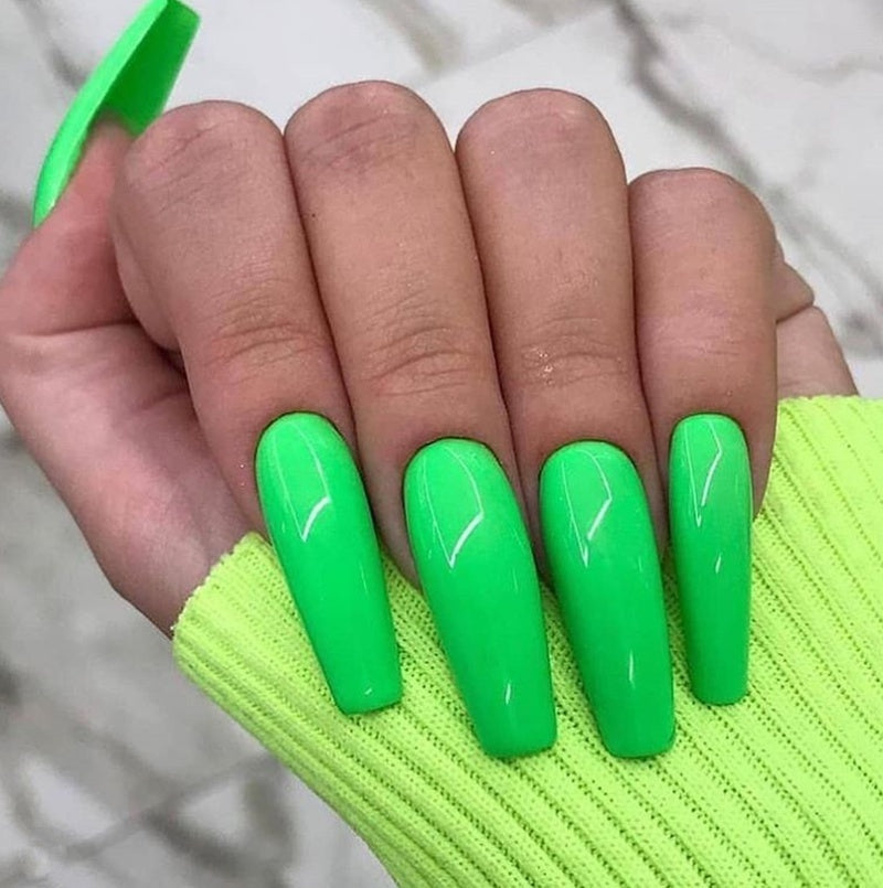 4pcs Fluorescent Phosphor Green Nail Glitters Shinning Neon Powder Fine Glimmer Gel Polish Painting Pigment Nail Tools