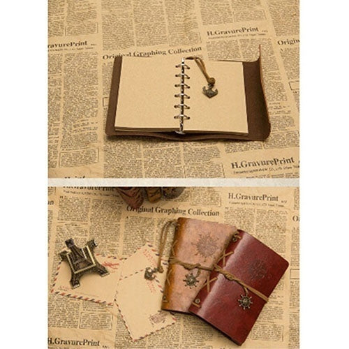 1PC Fashion Personality Notebook Journal Notebook Spiral Ring Binder Diary Retro Book (6 Colors)