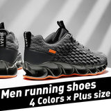 Men's Fashion Flame Blade and Breathable 3D Dragon Scales Upper Sport Running Shoes Casual Hole Sole Walking Shoes Athletic Tennis Sneakers