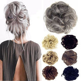 2019 New 24 Colors A/B Styles Fashion Chignon PonyTail Hair Extension Bun Fashion Hairpiece Scrunchie Elastic Wave Curly Synthetic Wrap