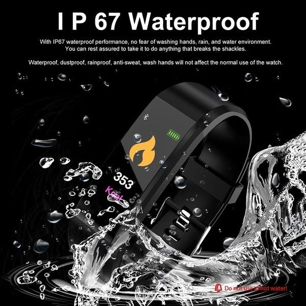 115PLus Smart Watches Bracelet Heart Rate Blood Pressure Pulse Monitor Fitness Pedometer