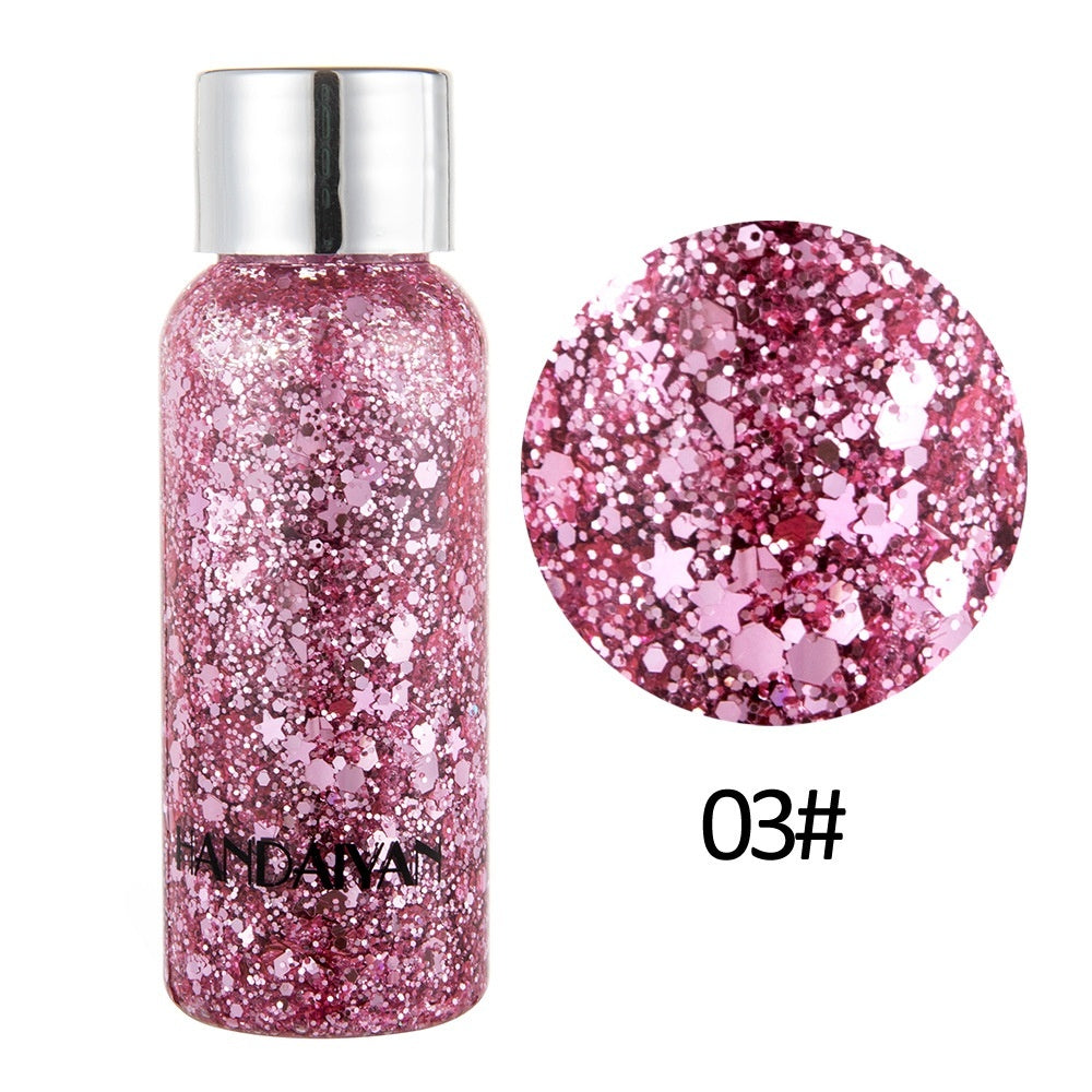 Popular Loose Sequins Shimmer Glitter for Body Tattoos Powder Gel Glitter Flash Heart Face Cream Makeup Festival Party Cosmetics