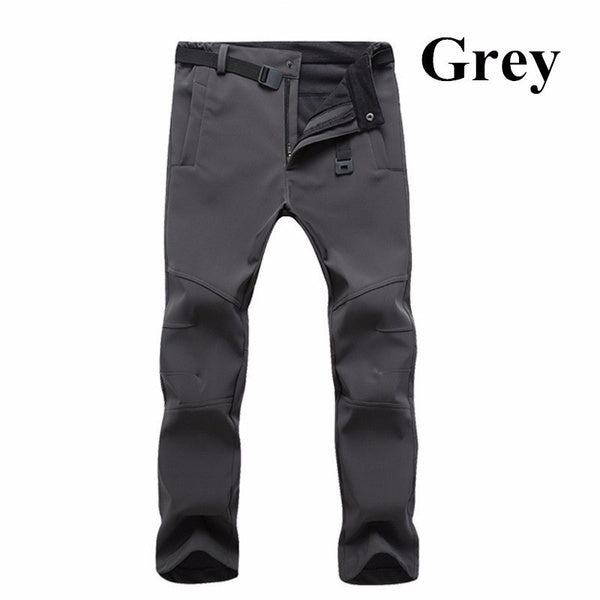 New Men's Winter Outdoor Waterproof Hiking Trousers Camping Climbing Fishing Skiing Trekking Softshell Fleece Warm Pants