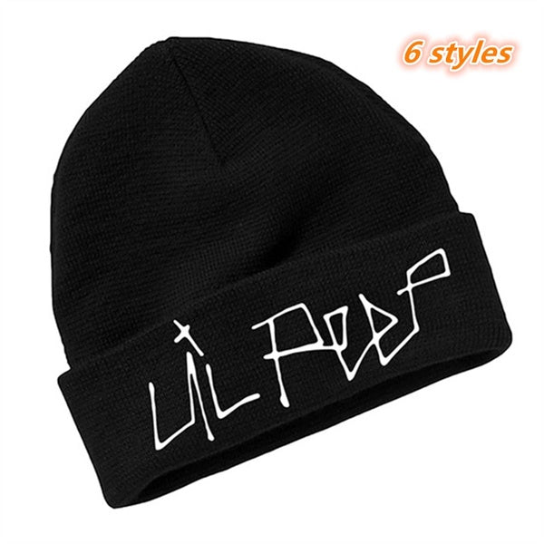 Lil Peep Beanie Embroidery Men Women Knit Cap Knitted Hat Skullies Warm Winter Unisex Ski Hip Hop Hat