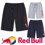 Summer Men Casual Red Bull Print Fashion Men's Sport Athletic Shorts Pants