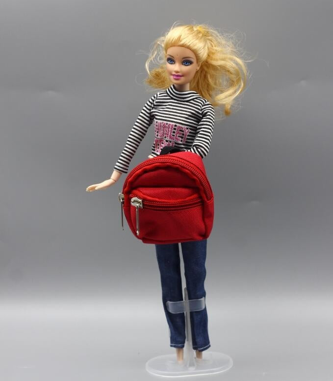 1PCS Dolls Bag Accessories Backpack for Barbie Doll for 1/6  Doll Best Gift