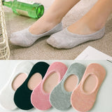 12 Pcs Fashion Comfortable Short Socks Candy Color Invisible Silicone Non-slip Socks Slippers Socks