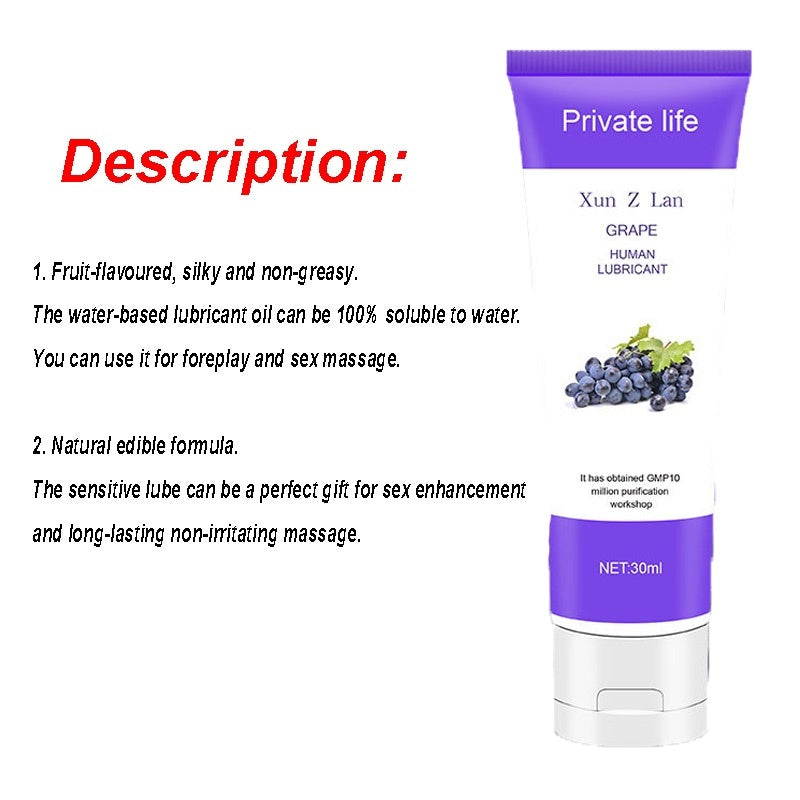 30ml Fruit Flavor Good Healthy Lubricant Transparent Water Soluble Lube for Men Women Couples