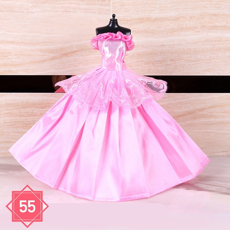 New Fahion Handmade Clothes Dresses Doll Clothes Children Girl Toys Doll Dress Long Skirt For 29-30cm Doll Daughter Gift