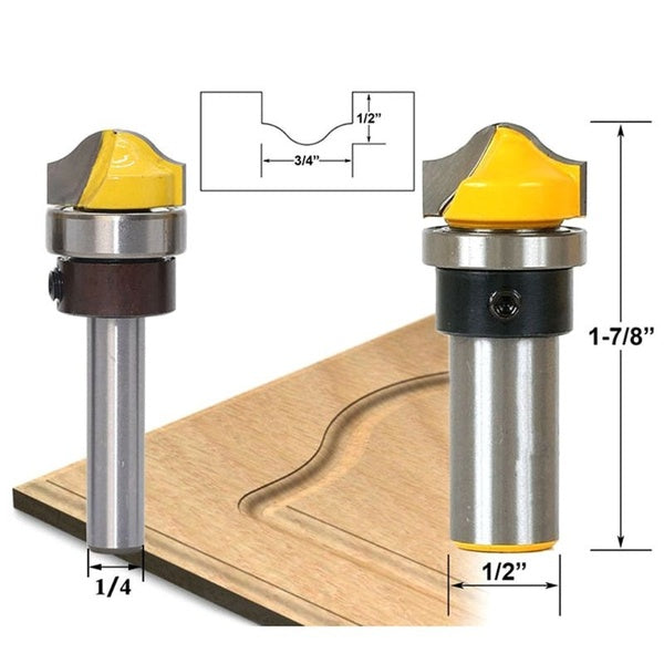 1/2' 1/4' 8mm Shank Faux Panel Ogee Woodworking Router Bit Carbide Tenon Cutter Woodworking Tools