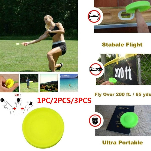 1PC/2PCS/3PCS Mini Silicone Flying Disc Toy Outdoor Outside Game Great for Kids & Adults Water Sports Toys