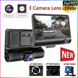 Car DVR 3 Camera Lens 4.0 Inch Sprint Camera Dual Lens and Night Vision Video Recorder with Reversing 1080p Image