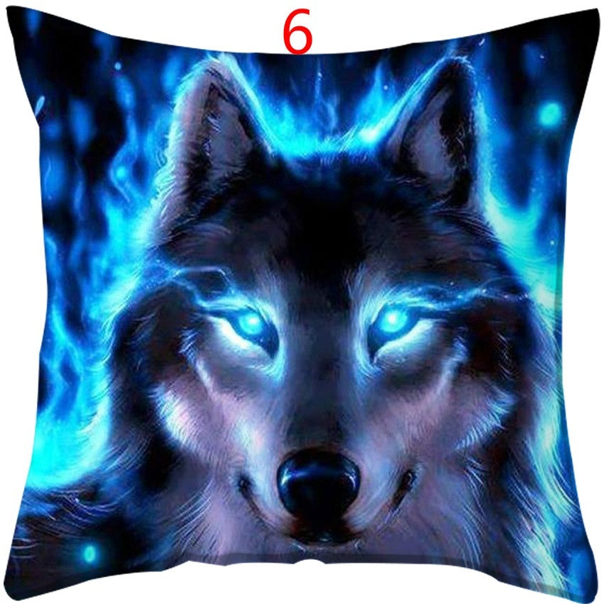 Animal Wolf cushions Double Sided Printing Square Pillowcase Wolf Pillow case Cover Sofa Car Pillow Cover Bedroom Decoration