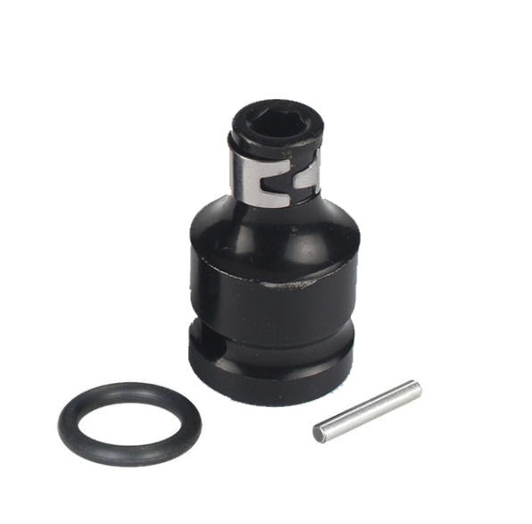 1Set 1/2 Square to 1/4  Hex Shank Socket Adapter Quick Release Chuck Converter for Impact and Ratchet Wrench