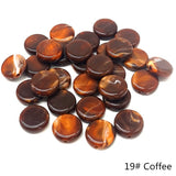 20pcs 15mm Oblate-Shape Beads Imitation Stone Beads for Jewelry Making Bracelet Pendant DIY