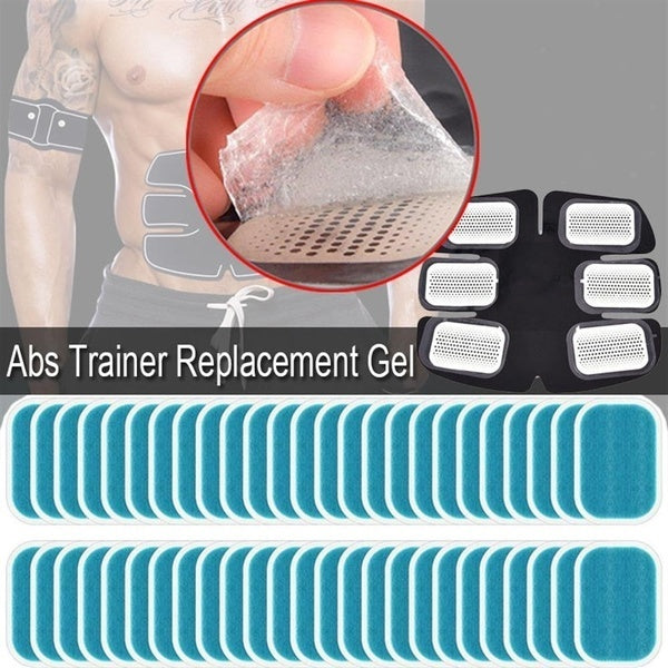 6pcs-50pcs  Abs Trainer Replacement Gel Sheet Abdominal Toning Belt Muscle Toner Ab Trainer 30pcs Gel Sheets For Gel Pad