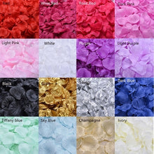 Load image into Gallery viewer, 100/500/1000PCS Fake Rose Petals Flower Toss Silk Petal Artificial Petals for Wedding Confetti Party Event Decoration