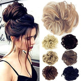 12 NEW Colors Fashion Women Tail Hair Extension Bun Hairpieces Scrunchie Wave Curly Elastic Synthetic Hairpieces