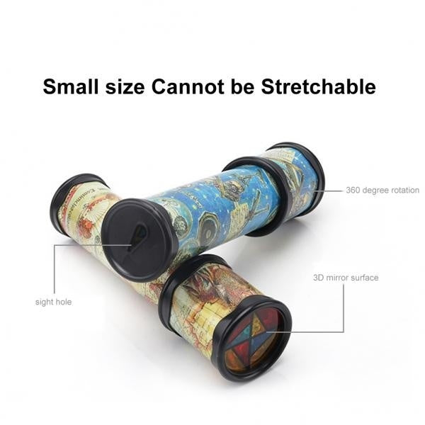 Beautiful Rotatable Kaleidoscope Kids Children Educational Science Toy Birthday