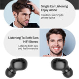 Bluetooth5.0 8D HIFI TWS Bluetooth Earphones CVC8.0 Noise Cancelling Wireless Bluetooth Headphones Sport Waterproof Bluetooth Headset Touch Control Mini Earbuds with Power Bank Chaging Case 800mAh/1500mAh/3500mAh