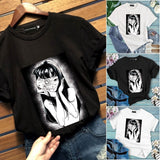 2019 New Suehiro Maruo Japan Japanese Gore Goru Art Anime Manga Horror Junji Ito Uzumaki T-Shirt Women Men Gothic Punk Halloween Shirts Tops