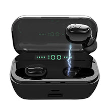 Load image into Gallery viewer, [Bluetooth5.0, CVC8.0 Noise Cancelling] TWS Bluetooth Headset 8D Stereo Wireless Bluetooth Earphones Sport Waterproof Bluetooth Headphones Mini Earbuds with Wireless Charging Case