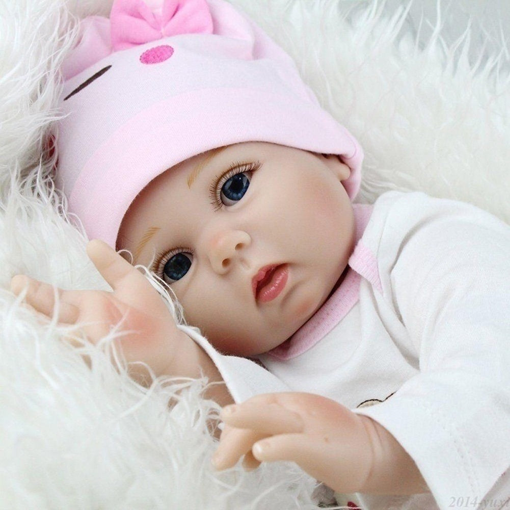 55cm New Realistic Silicone Baby Lifelike Dolls Birthday Gifts Playmates Toy