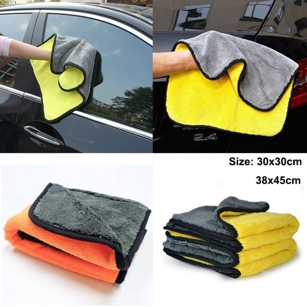 Auto Care 45cmx38/30cmx30cm Super Thick Plush Microfiber Car Cleaning Car Microfibre Wax Polishing Detailing Towels 2 Colors