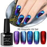 UR SUGAR 7.5ml 9D Cat Eye Nail Gel Polish Chameleon Magnetic UV Gel Varnish Purple Blue Soak Off UV Gel Black Gel Needed